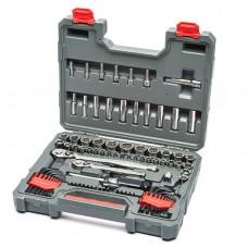 "Crescent 84 Pc.1/4"" & 3/8"" Drive 6 & 12 Point Standard & Deep SAE/Metric Mechanics Tool Set"