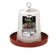 3 Pound Plastic Hanging Poultry Feeder PHF3