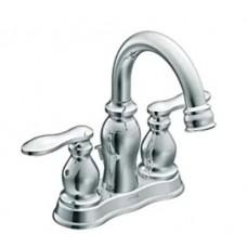 Moen 84668 Caldwell Two-Handle Low Arc Bathroom Sink Faucet Chrome