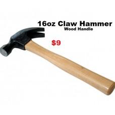 Claw Hammer 16oz Wood Handle
