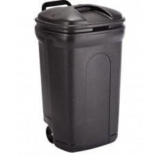 United Plastics 34 Gallon Trash Can with Wheels