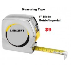 Measuring Tape 7.5M./25FT Silver